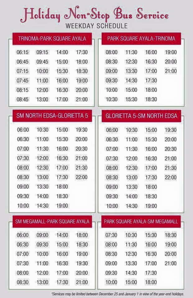 Express bus schedule