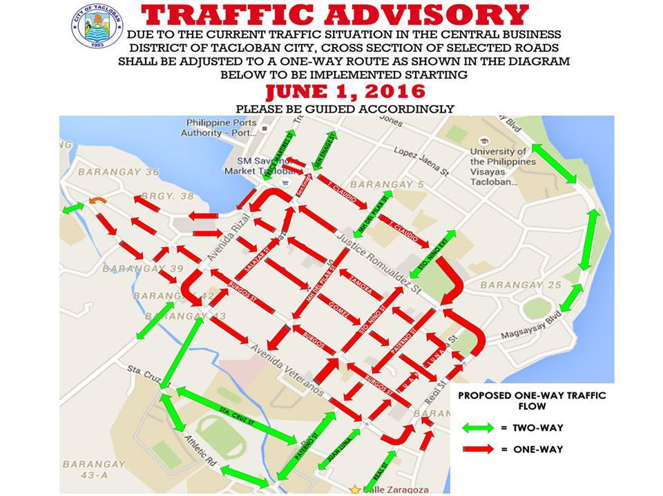 Tacloban Philippines Map.Tacloban S One Way Traffic Scheme Caught Up In Traffic