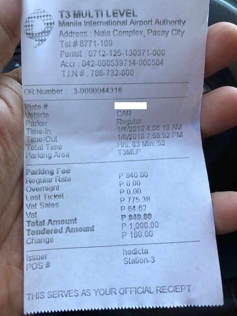 New rates at NAIA Terminal 3 multi-level parking « Caught (up) in